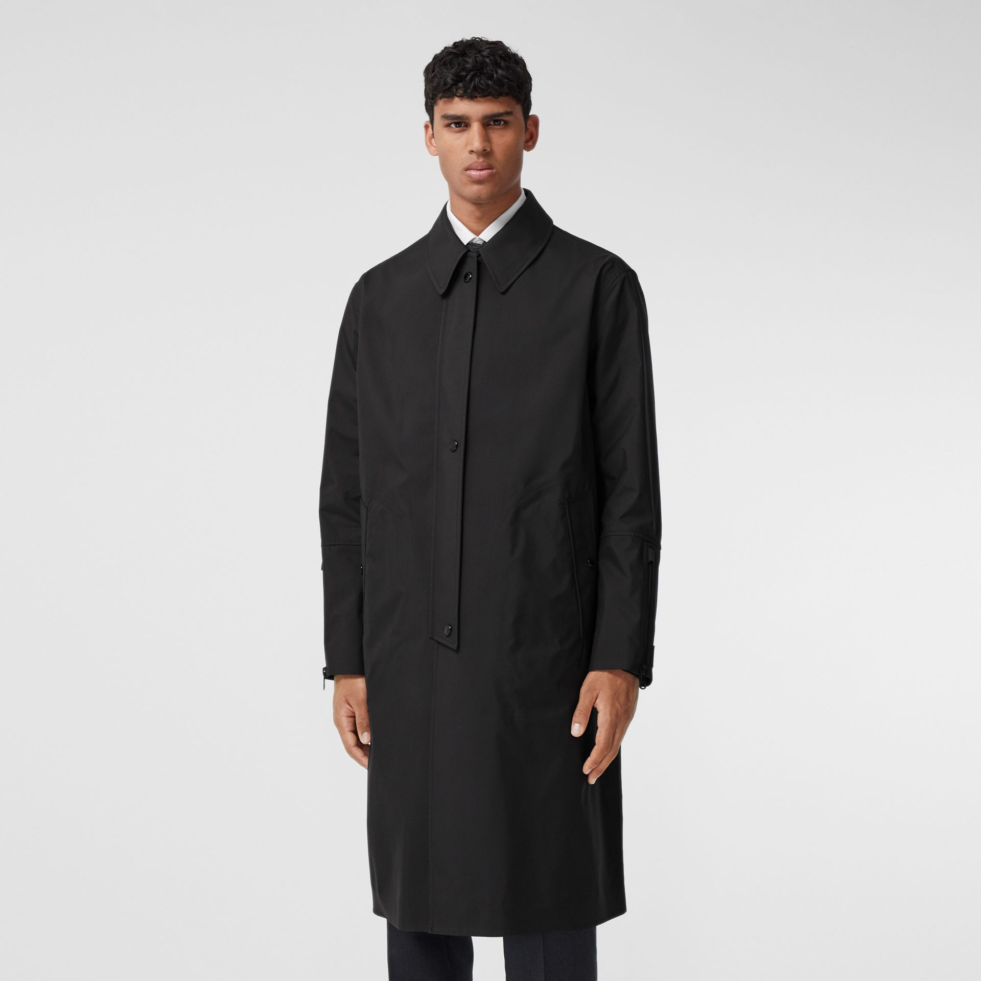 Logo Appliqué Bonded Nylon Car Coat - Men | Burberry - gallery image 5