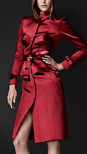 Satin Bustier Trench Coat