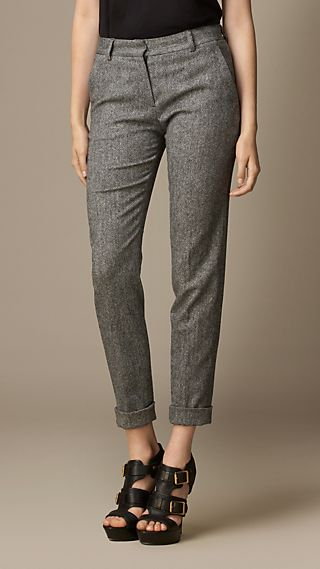 Tailored Stretch Wool Trousers
