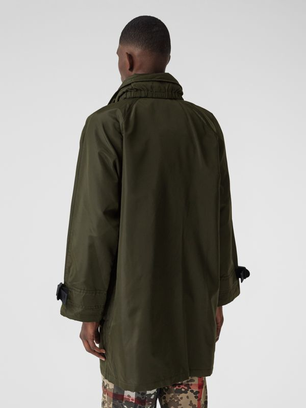 Packaway Hood Logo Tape Nylon Canvas Parka in Dark Olive - Men | Burberry - cell image 2