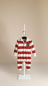 Rugby Stripe Cotton Playsuit