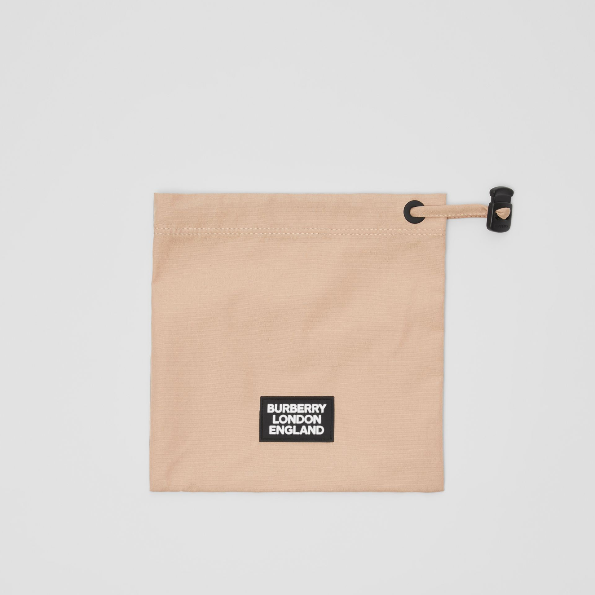 Logo Detail Cotton Face Mask in Soft Fawn | Burberry United States - gallery image 1
