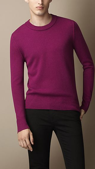 Elbow Detail Cashmere Sweater