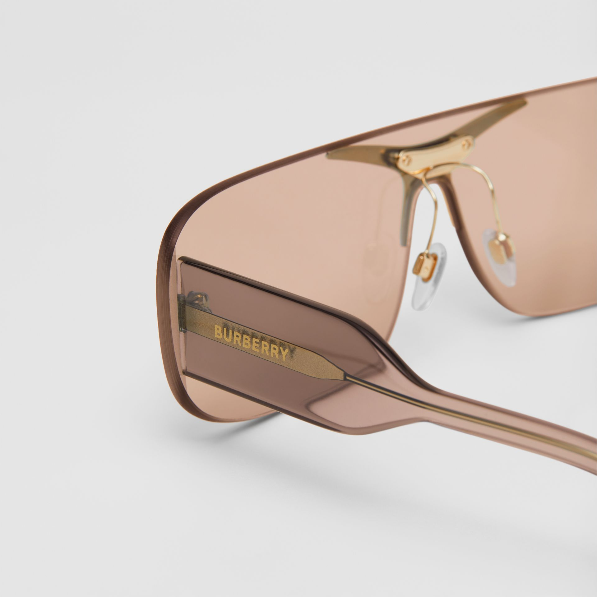 Blake Shield Sunglasses in Light Brown | Burberry - gallery image 1