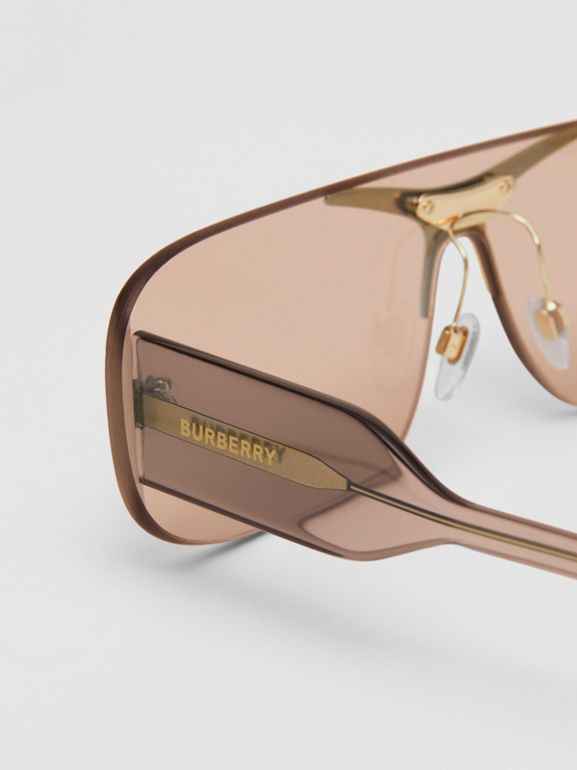 Blake Shield Sunglasses in Light Brown | Burberry - cell image 1