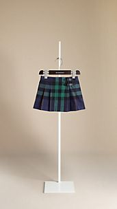 Belt Buckle Pleated Check Kilt