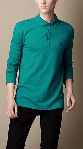 Long Sleeve Cotton Piqué Shirt