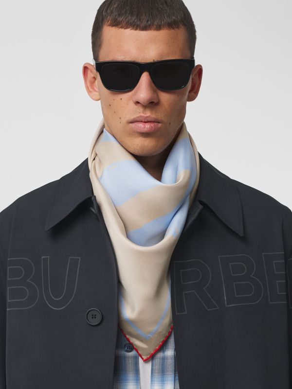 Love Print Silk Square Scarf in Red/camel | Burberry - cell image 3