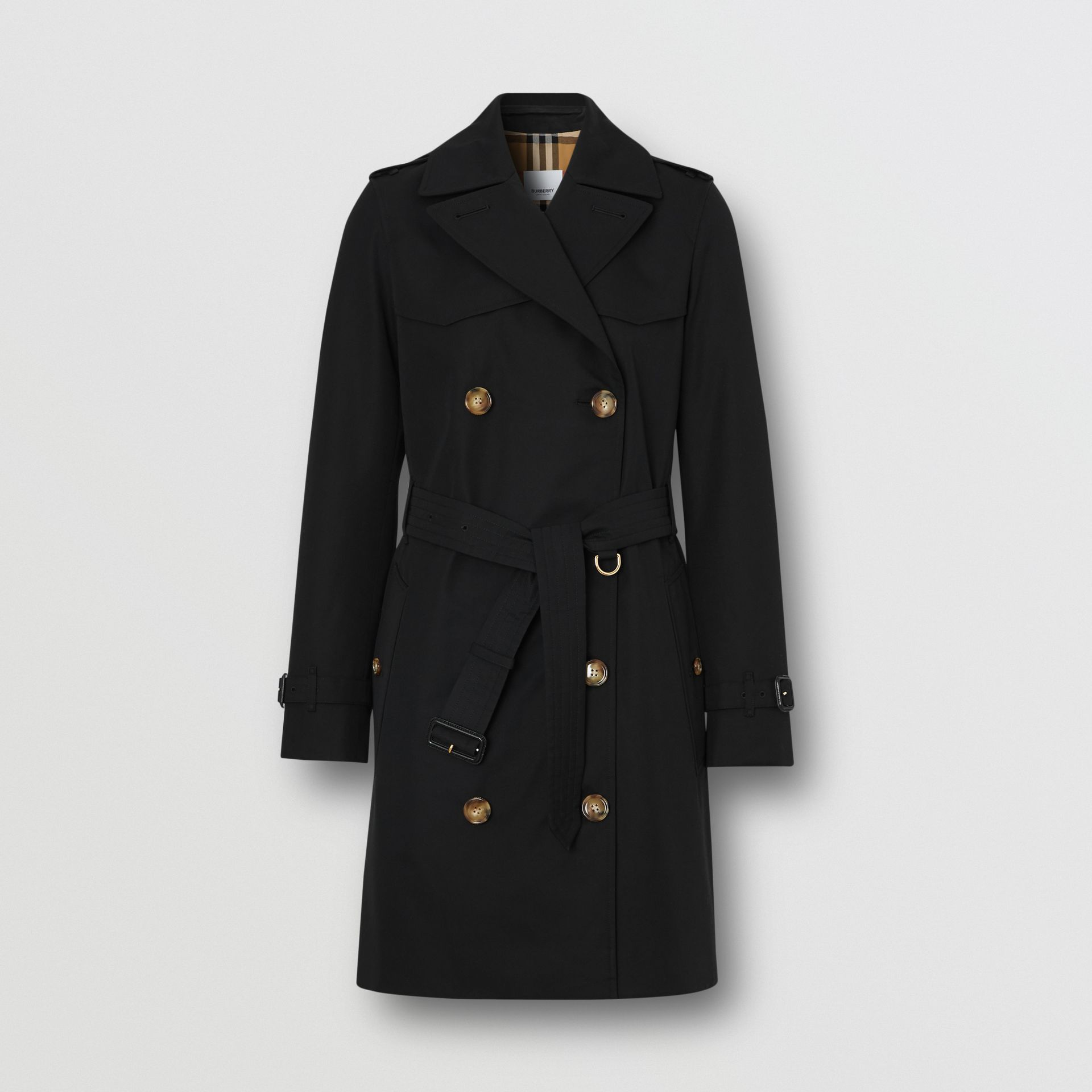 Trench coat Islington curto (Preto) - Mulheres   Burberry - galeria de imagens 3