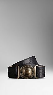 Military Buckle Python Belt