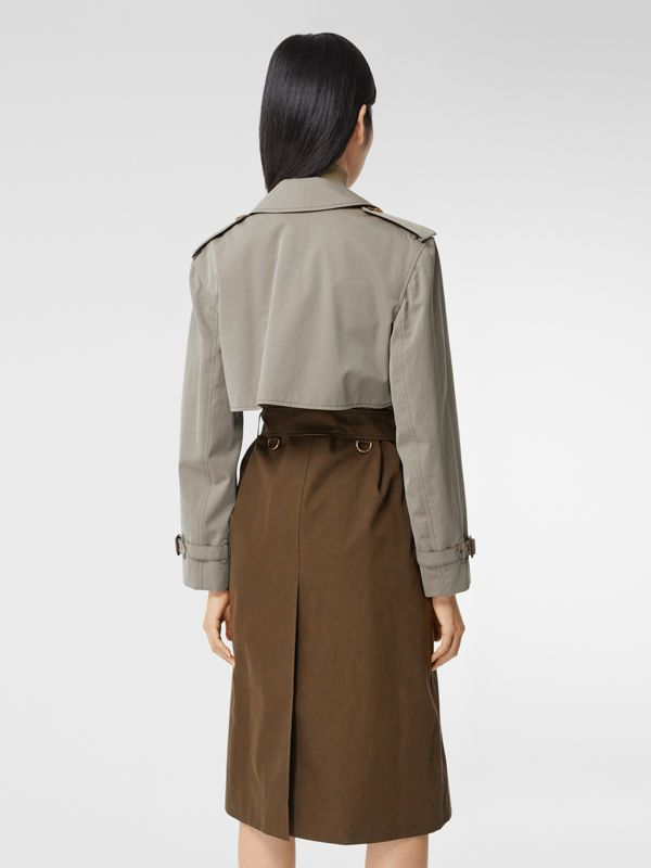 Trench coat bicolore ricostruito - Donna | Burberry - cell image 2