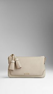 Clutch en cuir London avec pampille
