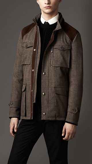 Rainwear Tweed Field Jacket
