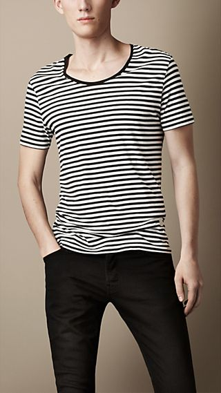 Striped Graphic Print T-Shirt