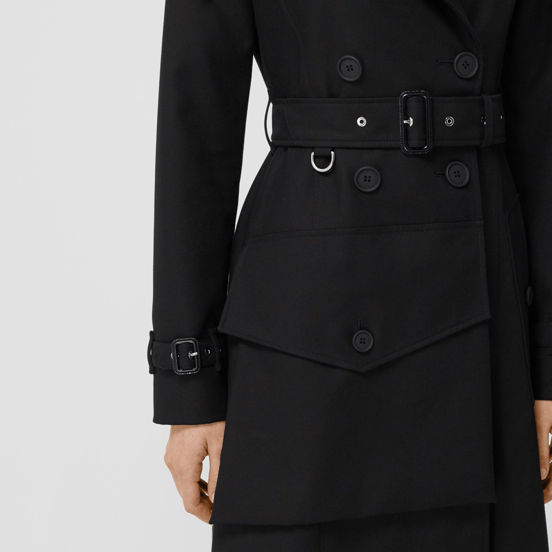Pocket Detail Cotton Gabardine Trench Coat in Black - Women | Burberry - gallery image 4