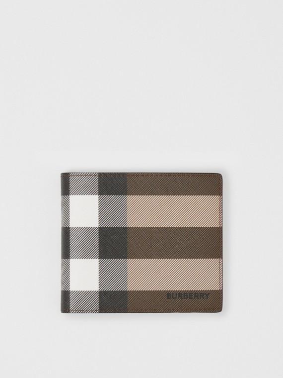 Check E-canvas International Bifold Wallet in Dark Birch Brown