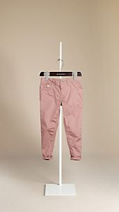 Skinny Fit Stretch Cotton Trousers