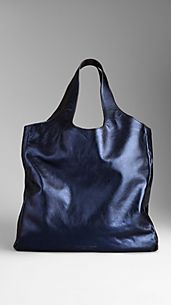 Metallic Leather Carrier Bag