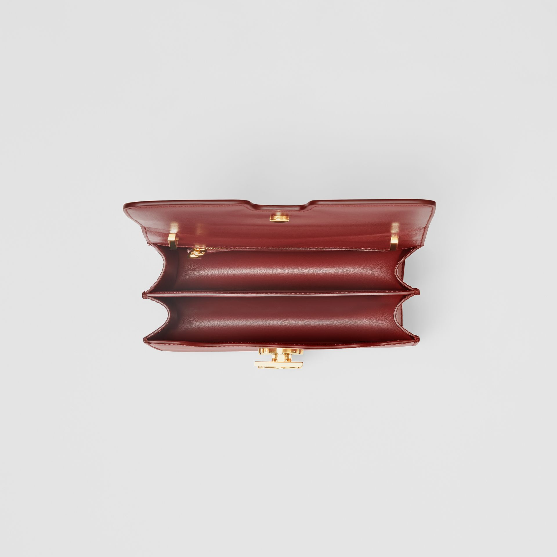 Small Leather TB Bag in Crimson - Women | Burberry United Kingdom - gallery image 4