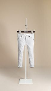 Kensington White Slim Fit Jeans
