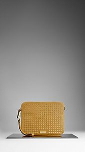 Studded Leather Crossbody iPad Case