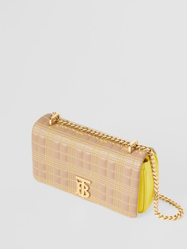 Small Quilted Tri-tone Lambskin Lola Bag in Camel/yellow - Women | Burberry Canada - cell image 3