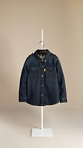 Dark Indigo Denim Military Shirt