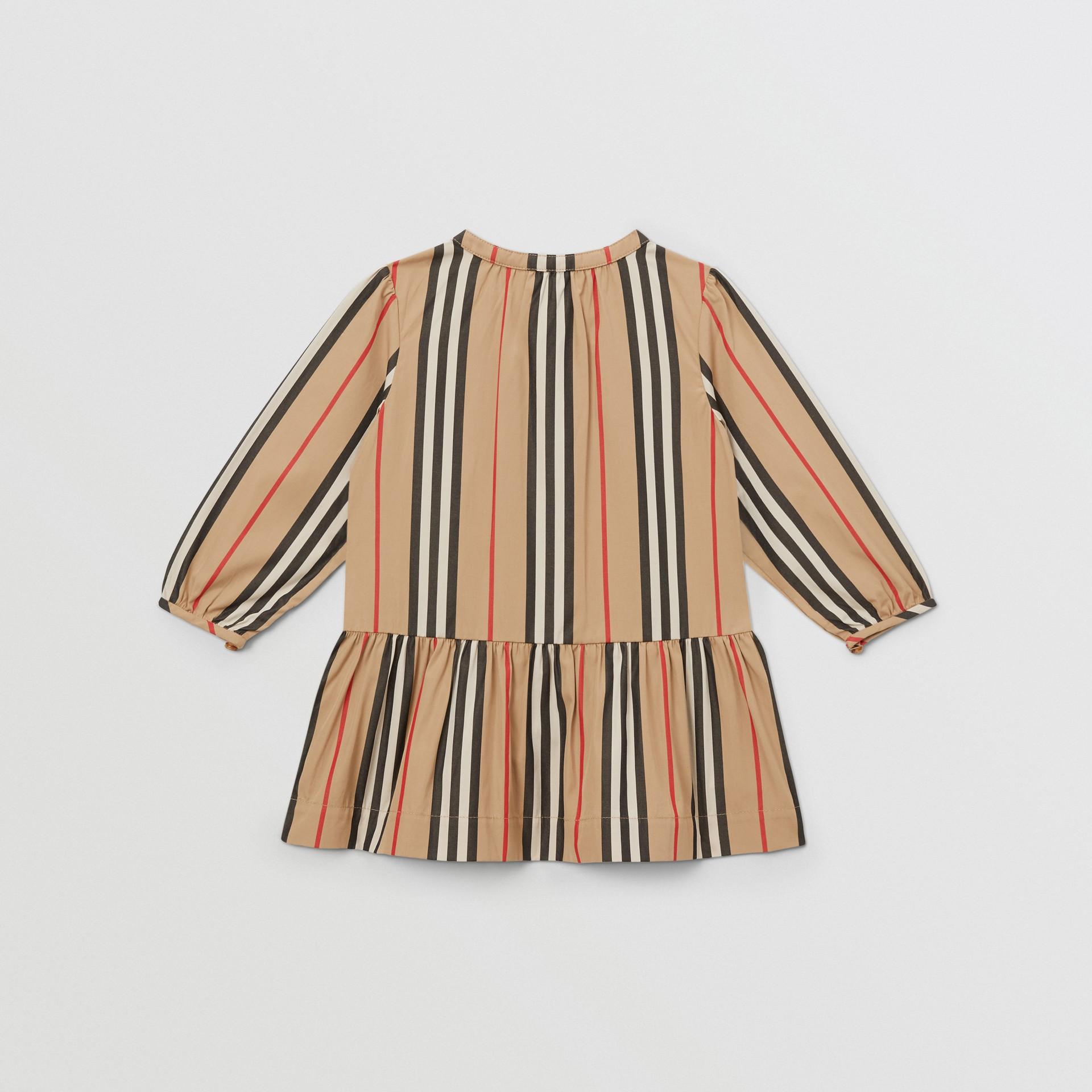 Icon Stripe Gathered Cotton Poplin Dress - Children | Burberry United Kingdom - gallery image 2