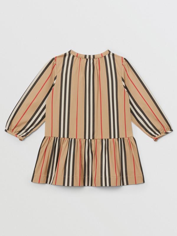 Icon Stripe Gathered Cotton Poplin Dress - Children | Burberry United Kingdom - cell image 2