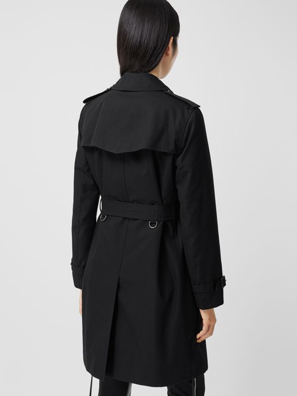 The Mid-length Kensington Heritage Trench Coat in Black - Women | Burberry - cell image 2