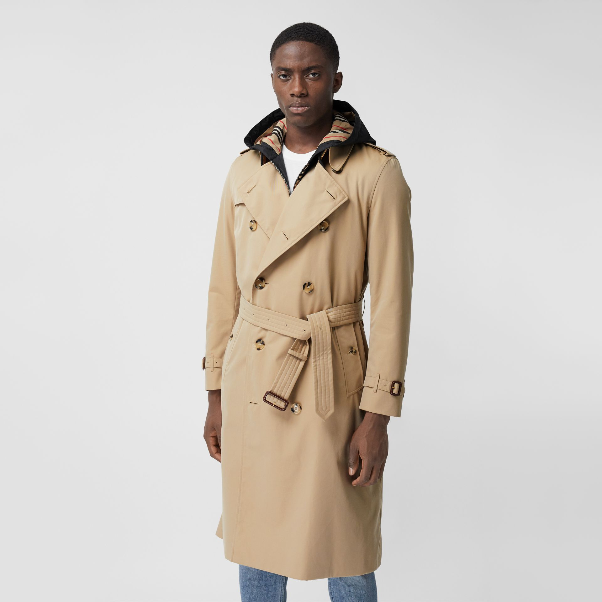 The Long Kensington Heritage Trench Coat in Honey - Men | Burberry United States - gallery image 7