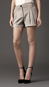 Tailored Turn-Up Shorts