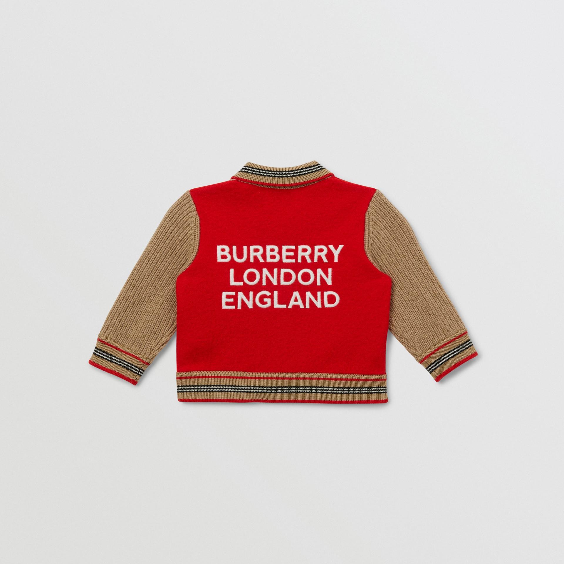Veste en laine mélangée color-block avec motif étoilé - Enfant | Burberry - photo de la galerie 2
