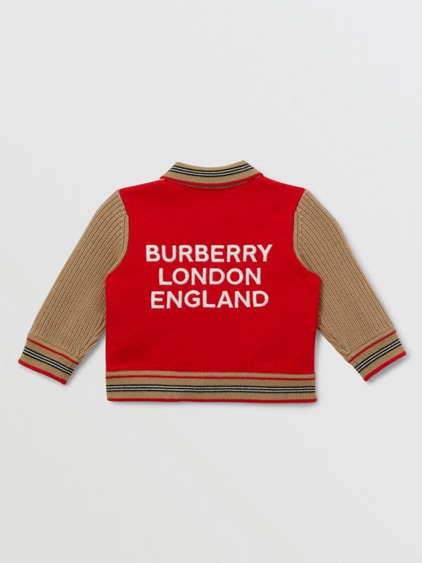 Veste en laine mélangée color-block avec motif étoilé - Enfant | Burberry - cell image 2
