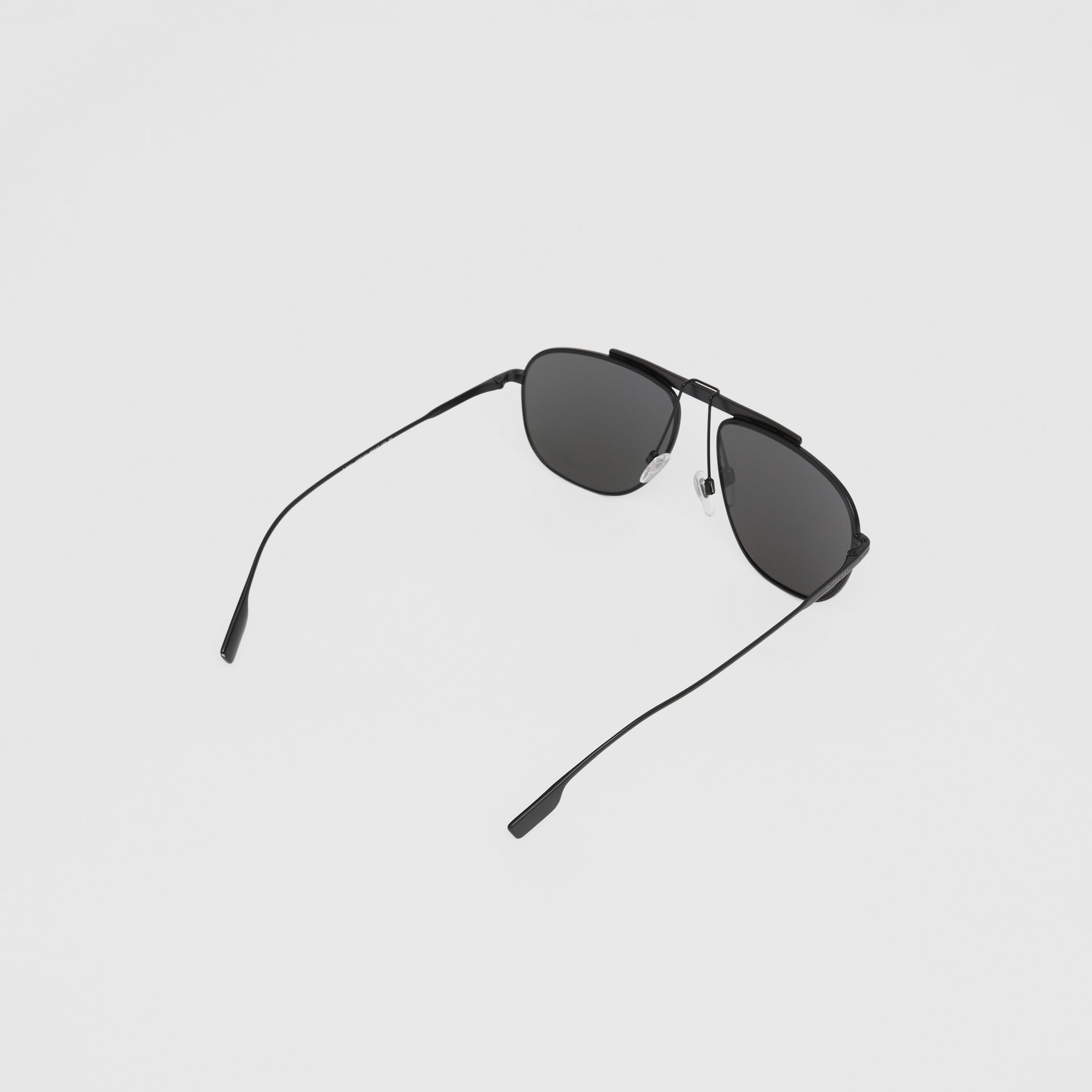 Pilot Sunglasses in Matte Black - Men | Burberry - gallery image 4