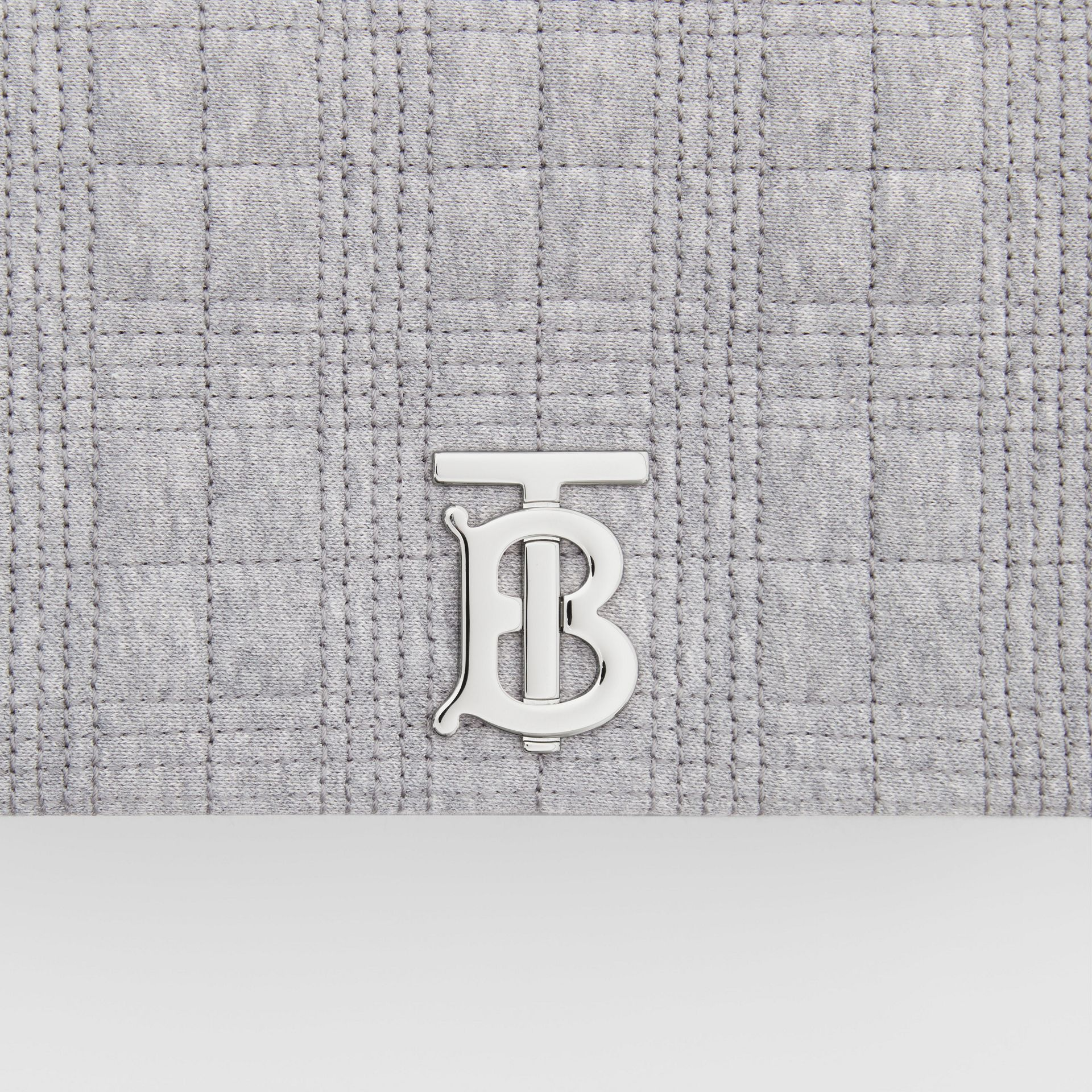 Small Quilted Jersey Lola Bag in Grey Taupe Melange | Burberry Canada - gallery image 1