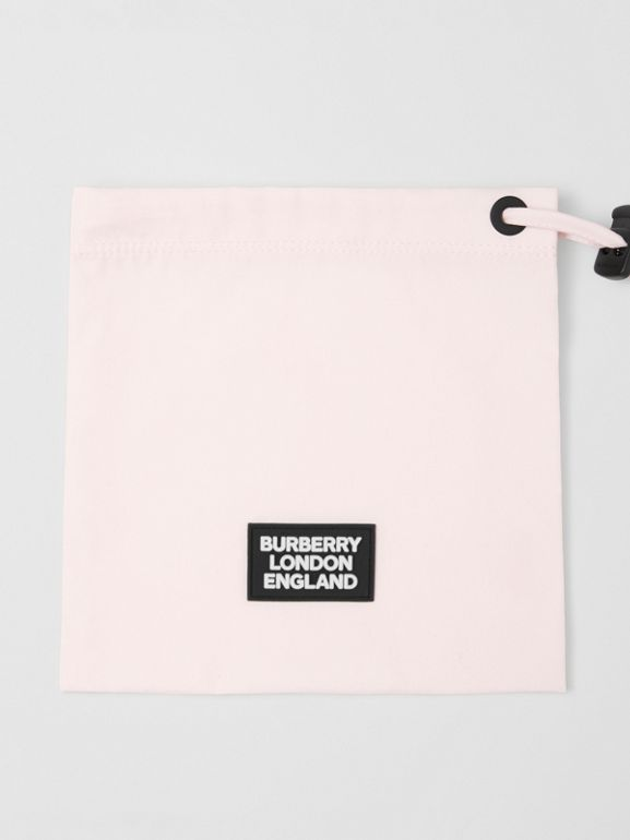 Logo Detail Cotton Face Mask in Alabaster Pink | Burberry - cell image 1