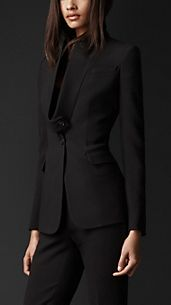 Disconnected Lapel Tailored Jacket