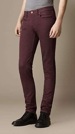 Shoreditch Purple Dyed Skinny Fit Jeans
