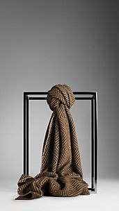 Check Cotton Cashmere Scarf