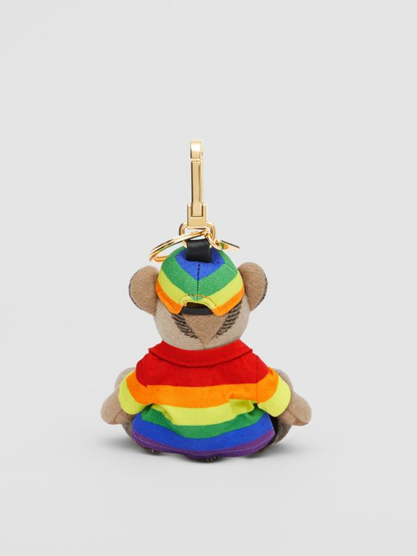 Thomas Bear Charm in Rainbow Coat and Hat in Archive Beige/multicolour   Burberry United Kingdom - cell image 2
