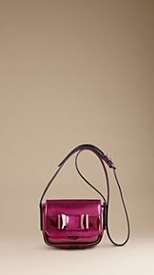Metallic Leather and Perspex Bow-Detail Bag