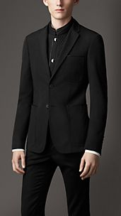 Technical Cotton Blazer with Quilted Warmer