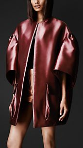Double Duchess Satin Opera Coat