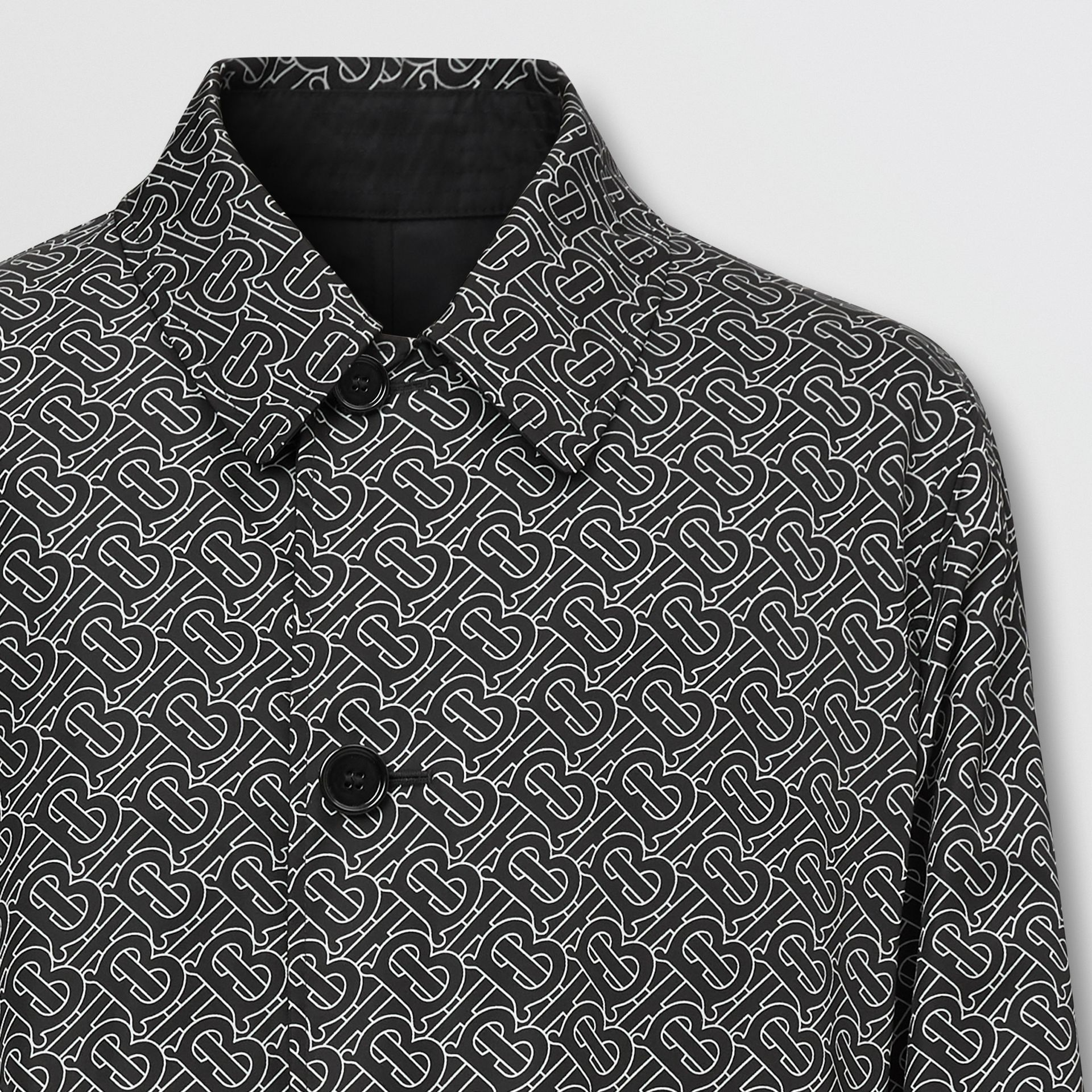 Reversible Logo Embroidered ECONYL® Car Coat | Burberry United Kingdom - gallery image 6