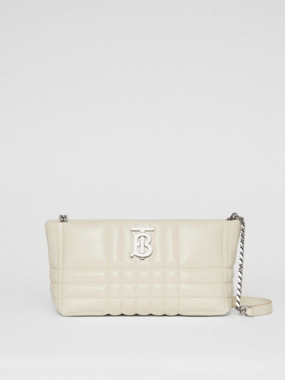Small Quilted Lambskin Soft Lola Bag in Pale Vanilla