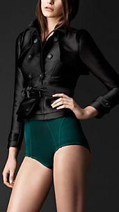 Satin Corset Trench Jacket