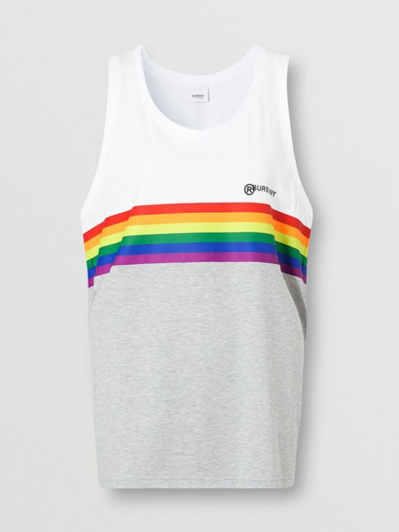 Rainbow Stripe Print Cotton Vest