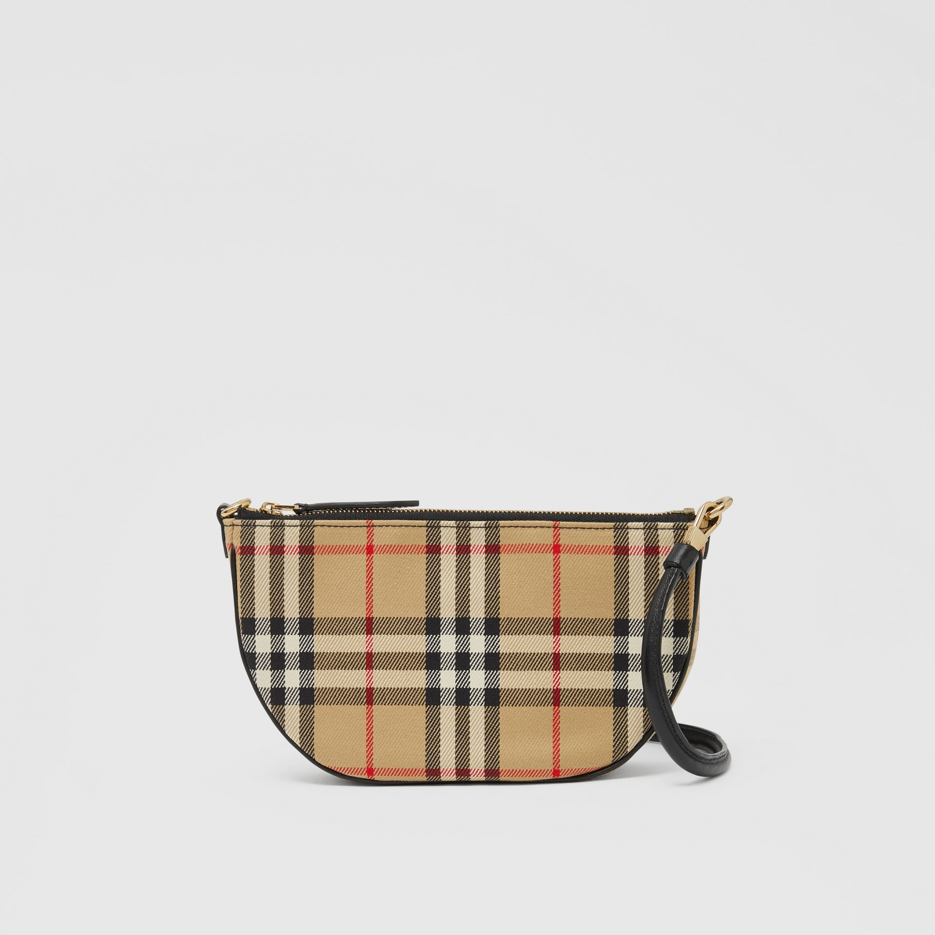 Vintage Check Cotton Olympia Pouch in Archive Beige - Women | Burberry United Kingdom - gallery image 9