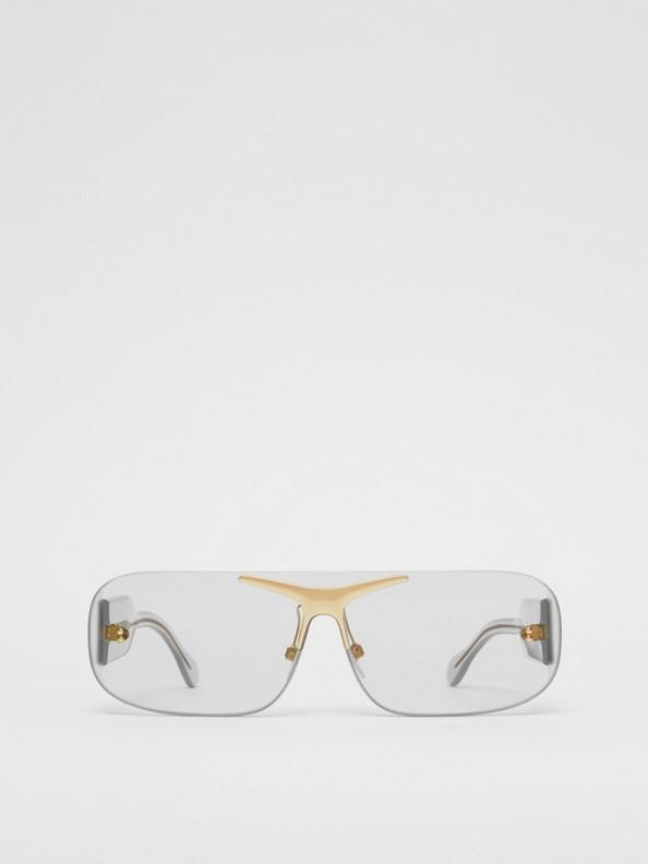 "Shield-Sonnenbrille ""Blake"" (Transparent)"